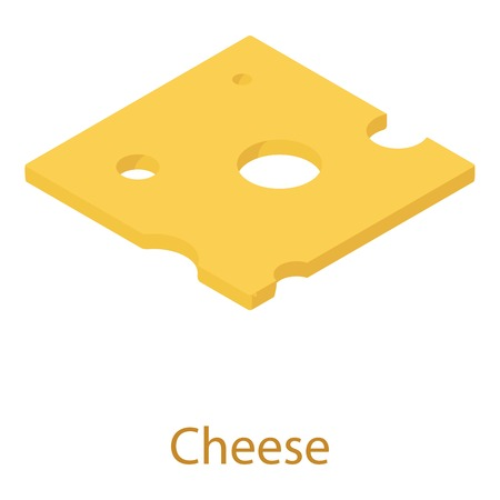 cheez: Cheese icon, isometric 3d style