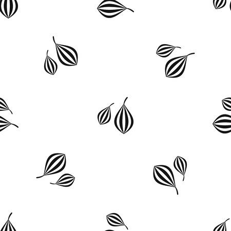 Trachyspermum ammi pattern seamless black