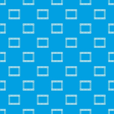 camera film: Film with frames movie pattern seamless blue