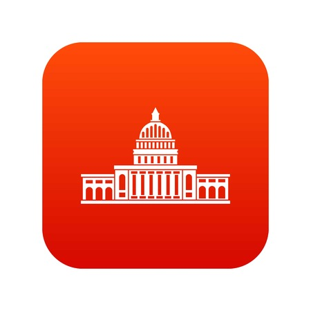 politic: White house icon digital red
