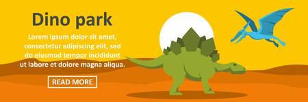 triceratops: Dino park banner horizontal concept