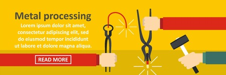 anvil: Metal processing banner horizontal concept