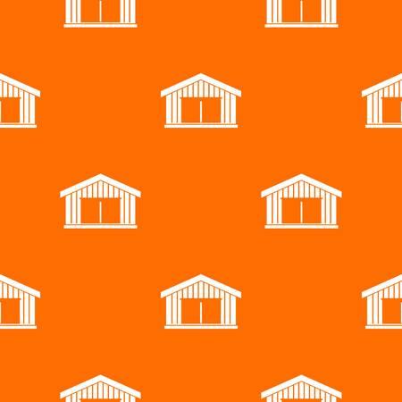 Garage pattern repeat seamless in orange color for any design. Vector geometric illustration Illustration