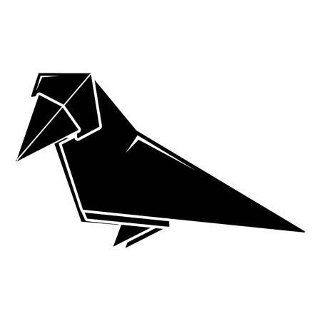 Origami bird icon. Simple illustration of origami bird vector icon for web Illustration