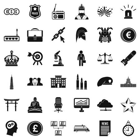 goverment: Goverment icons set. Simple style of 36 goverment vector icons for web isolated on white background