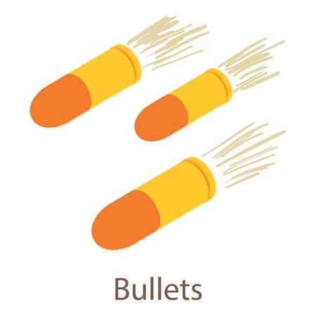Bullets icon. Isometric illustration of bullets icon for web