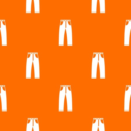 Jeans pattern repeat seamless in orange color for any design. Vector geometric illustration