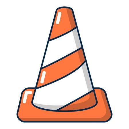 reflection: Cone road icon. Cartoon illustration of cone road vector icon for web