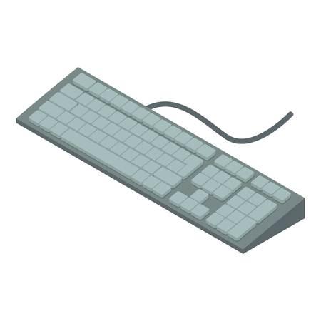 Keyboard icon. Isometric illustration of keyboard icon for web Illustration