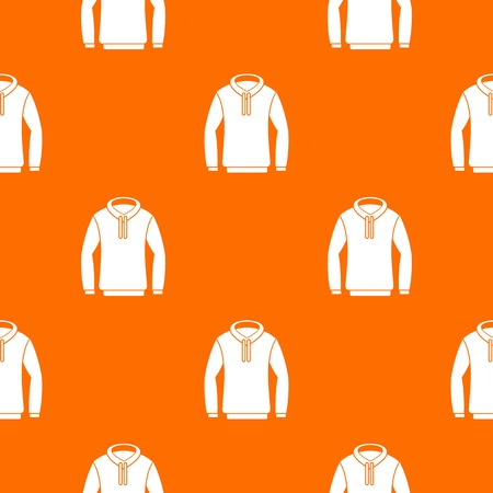 Hoody pattern repeat seamless in orange color for any design. Vector geometric illustration Illustration