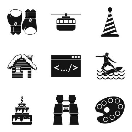 baby toy: Modern entertainment icons set. Simple set of 9 modern entertainment vector icons for web isolated on white background