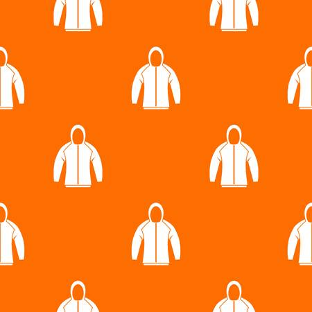 Sweatshirt pattern repeat seamless in orange color for any design. Vector geometric illustration Illustration