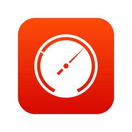 Speedometer icon digital red