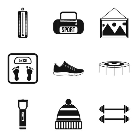 baby toy: Teenager icons set, simple style Illustration
