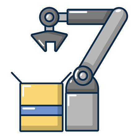 device: Robot factory icon. Cartoon illustration of robot factory vector icon for web