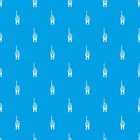 device: Radio transmitter pattern repeat seamless in blue color for any design. Vector geometric illustration Illustration