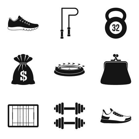 honorarium: Honorarium icons set, simple style