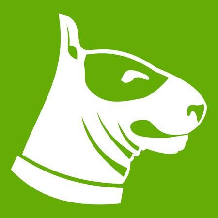 Bull terrier dog icon green