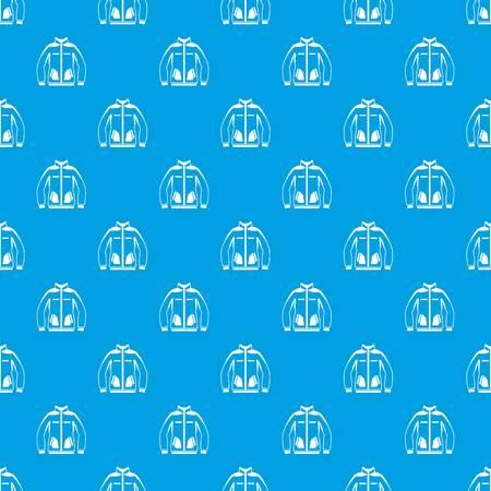 male symbol: Men winter jacket pattern seamless blue Illustration