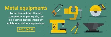 heavy industry: Metal equipments banner horizontal concept