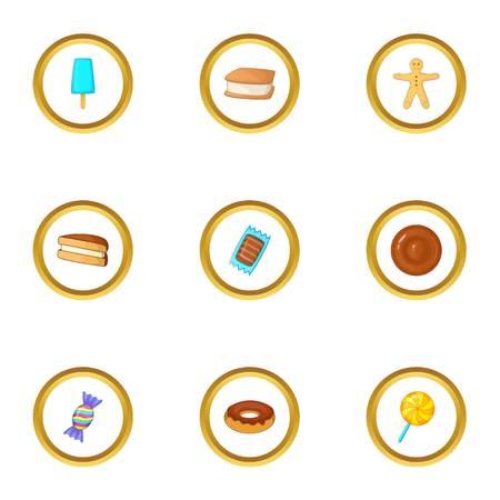 swirl: Candies icons set