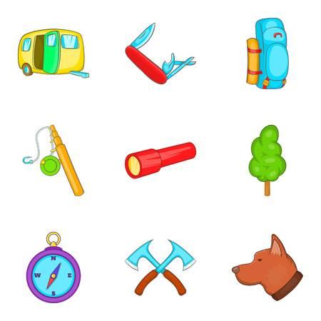 Stroll icons set
