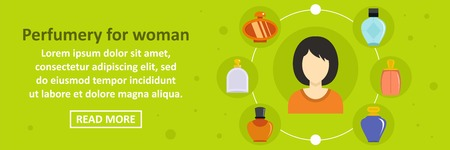 Perfumery for woman banner horizontal concept