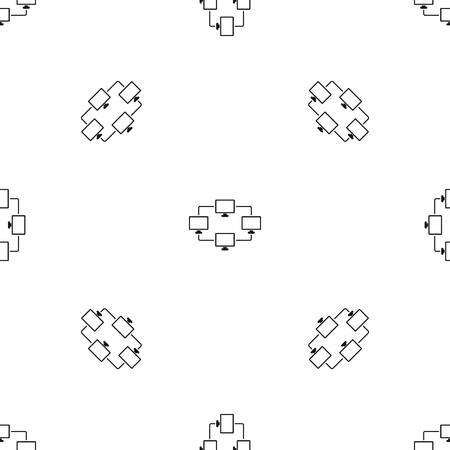 laptop screen: Computer transmission information pattern