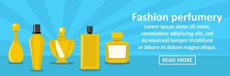 Fashion perfumery banner horizontal concept Illustration