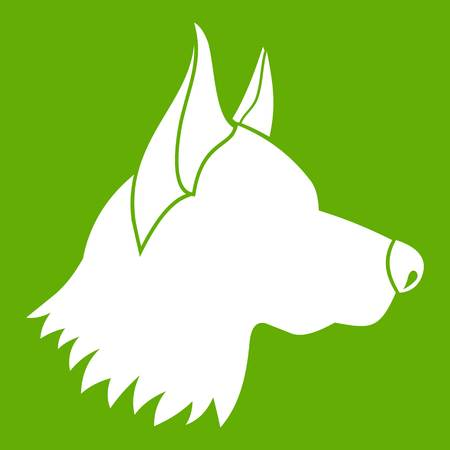 Shepherd dog icon Illustration