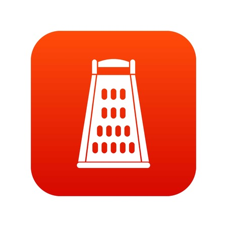 Kitchen grater icon digital red for any design isolated on white vector illustration