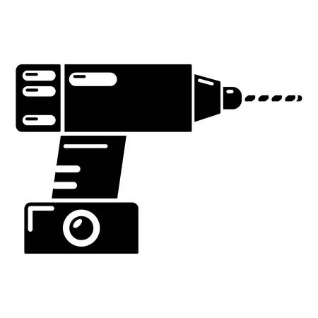 oil and gas industry: Drill icon. Simple illustration of drill vector icon for web