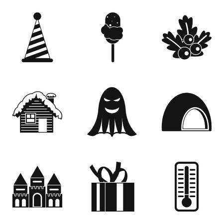 baby toy: Country fun icons set. Simple set of 9 country fun vector icons for web isolated on white background