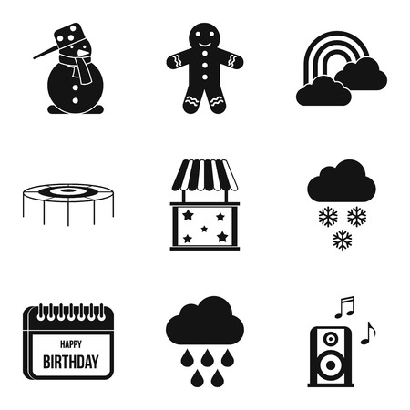 baby toy: Early childhood icons set. Simple set of 9 early childhood vector icons for web isolated on white background
