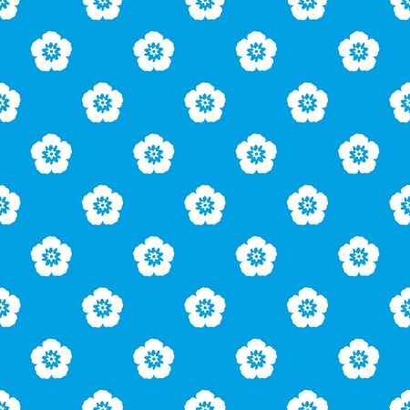 floral: Rose of Sharon, korean national flower pattern repeat seamless in blue color for any design. Vector geometric illustration