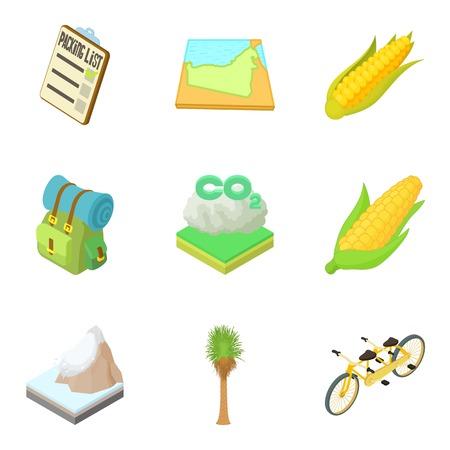 Neighborhood icons set. Cartoon set of 9 neighborhood vector icons for web isolated on white background