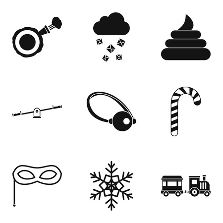 baby toy: Stealth icons set. Simple set of 9 stealth vector icons for web isolated on white background