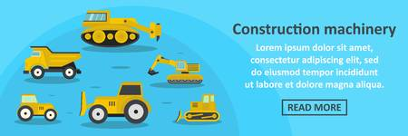 mobile marketing: Construction machinery banner horizontal concept