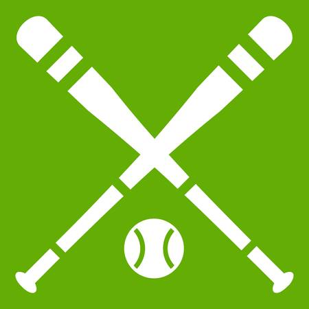 shaft: Baseball bat and ball icon green