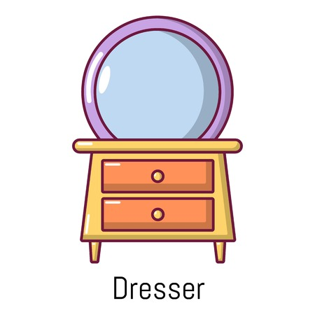 Dresser icon. Cartoon illustration of dresser vector icon for web Illustration