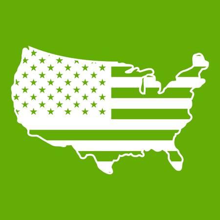 USA map icon green Illustration