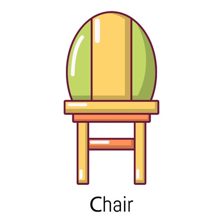 Chair icon, cartoon style Illustration