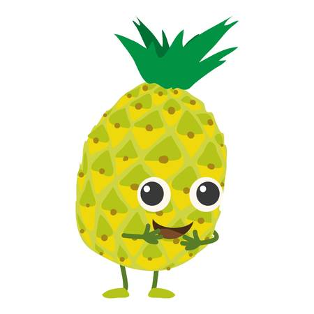 Pineapple icon, cartoon style