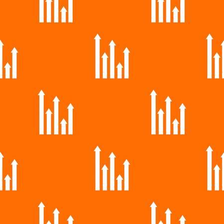 upside: Upside growing arrows pattern seamless Illustration