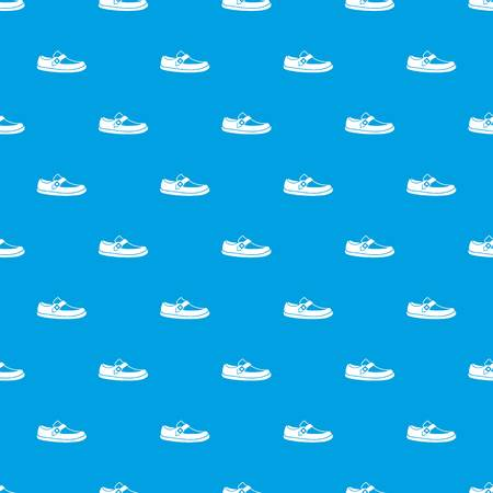 male symbol: Men moccasin pattern repeat seamless in blue color for any design. Vector geometric illustration