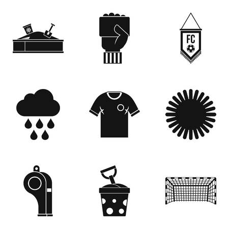 baby toy: Playful icons set, simple style Illustration