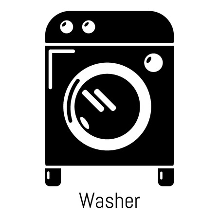 dryer: Washer icon. Simple illustration of washer vector icon for web