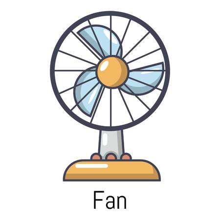 business graphics: Fan icon. Cartoon illustration of fan vector icon for web