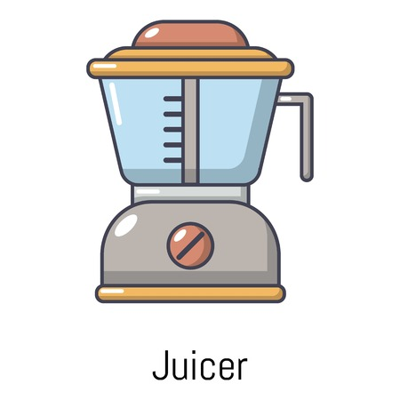 Juicer icon, cartoon style