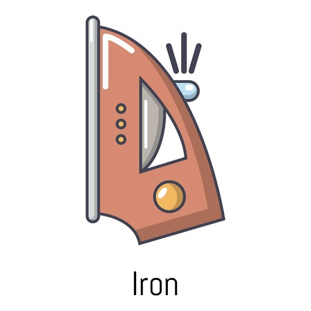 Iron icon. Cartoon illustration of iron vector icon for web